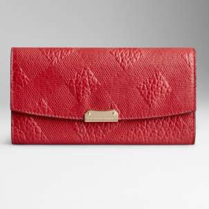 Clutch rossa Burberry