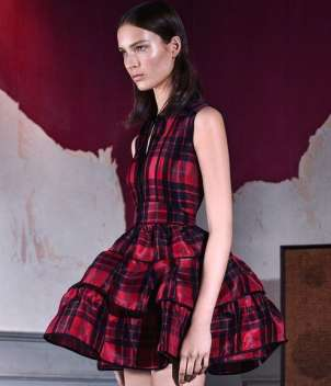 Minidress tartan di Dsquared2