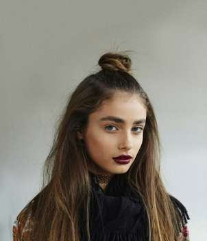 Beauty look e make up stile grunge