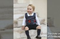 Principe George a Natale 2014, William e Kate pubblicano le nuove foto del Royal Baby