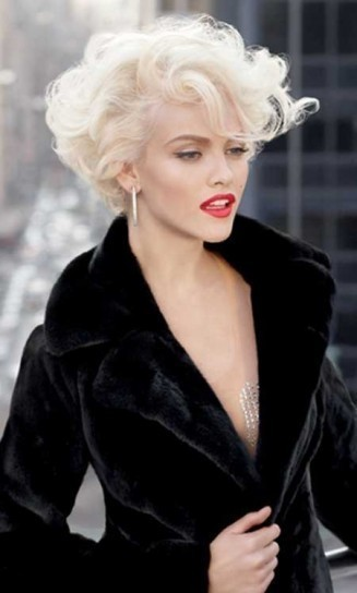 Platinum Blonde Short Curly Hairstyles Women