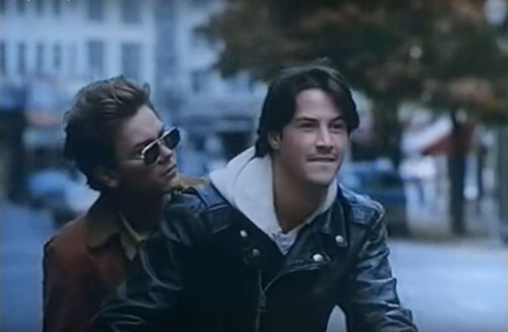 River Phoenix e Keanu Reeves in Belli e dannati