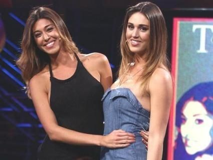 Cecilia Rodriguez e Belen in trasmissione
