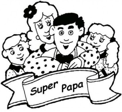 Disegno per la festa del pap con una famiglia