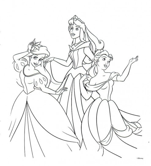 Principesse Disney da colorare