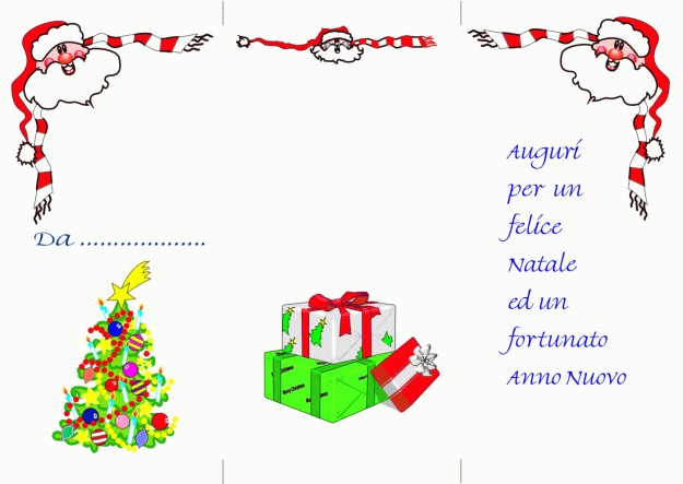 Letterina di Natale da stampare con pacchetti regalo