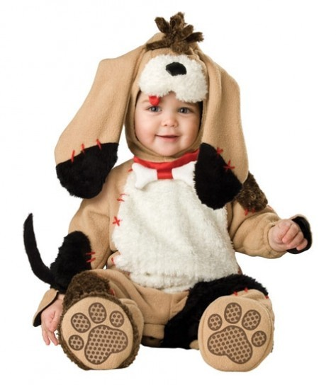 Costume di Carnevale da cane in peluche