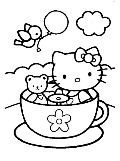 Disegno per la festa del pap con Hello Kitty