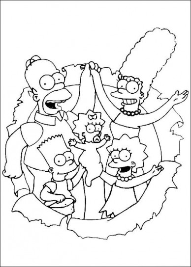 Disegno per la festa del pap con i Simpson