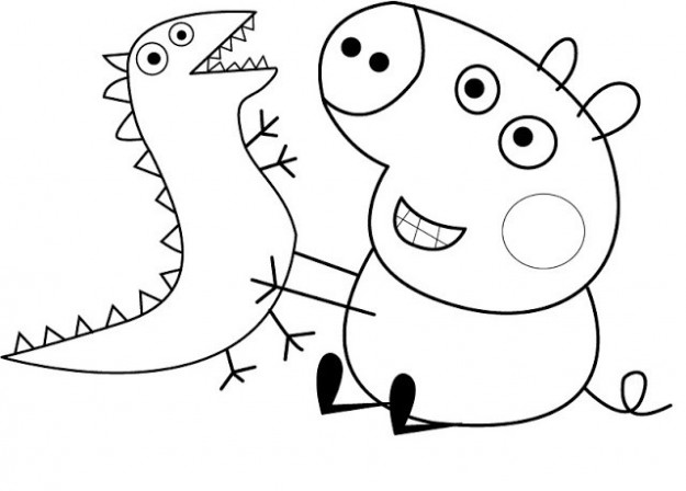 Free Coloring Pages Of Peppa Pig Birthday George Pig Free Party ...