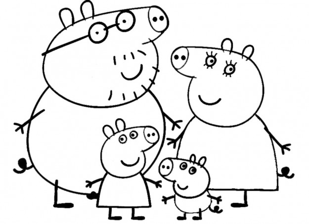 peppa pig da colorare foto pourfemme