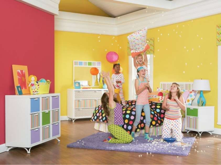 Camerette per bambini le proposte pi colorate e for Dulux childrens bedroom ideas