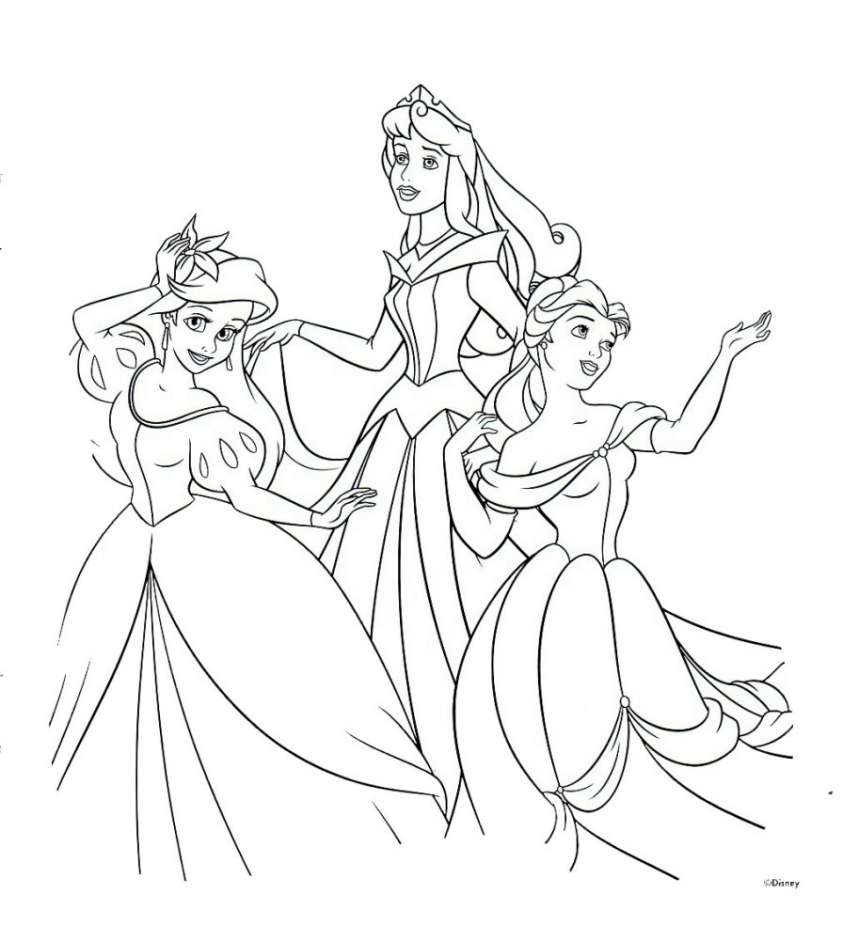 Principesse disney giochi e immagini da colorare pourfemme for Principesse disney da colorare