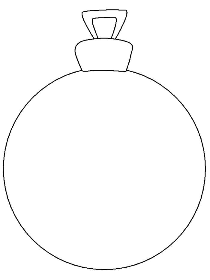 coloring pages christmas baubles hanging - photo#31
