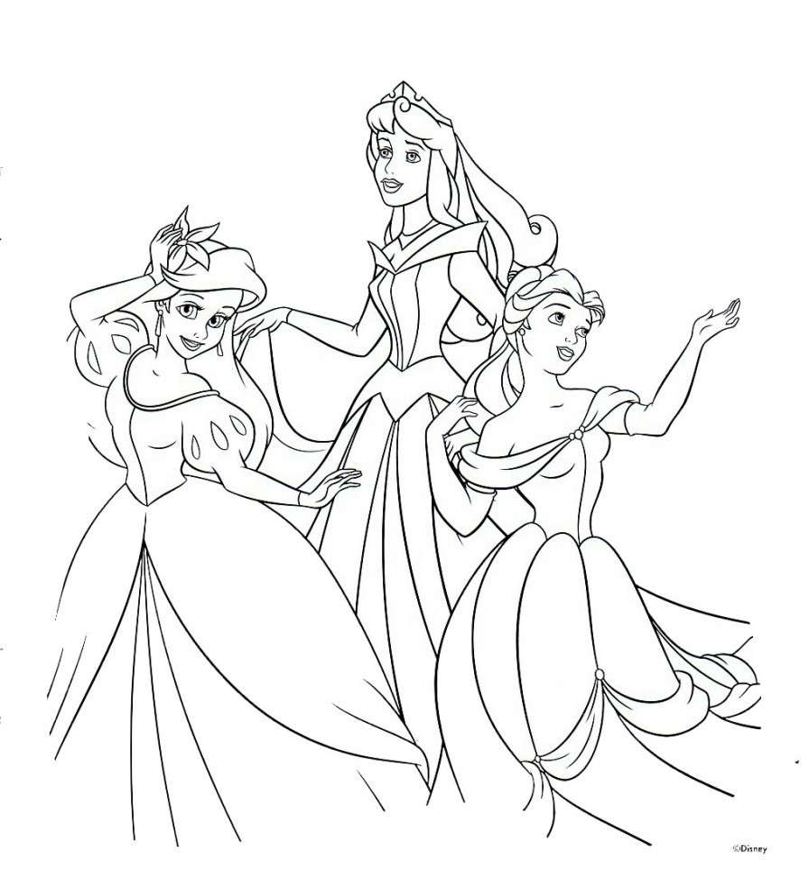 Pin principesse disney da colorare on line disegni imagixs for Immagini da colorare walt disney