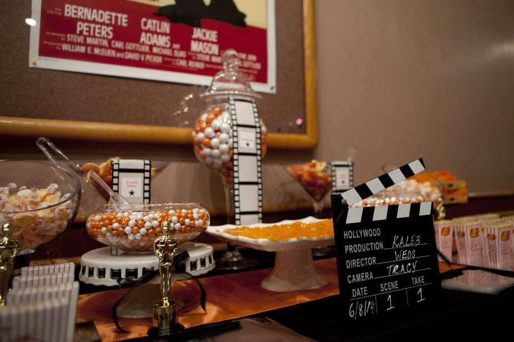 Matrimonio Tema Hollywood : Decorazioni per il matrimonio a tema cinema foto