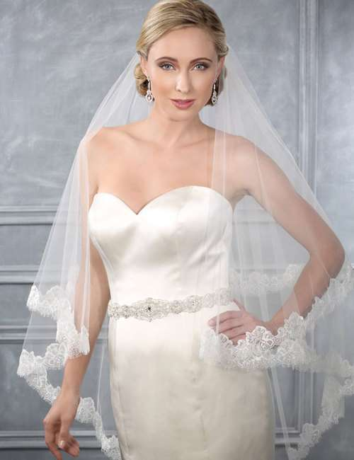 Velo Bel Air Bridal in pizzo chantilly