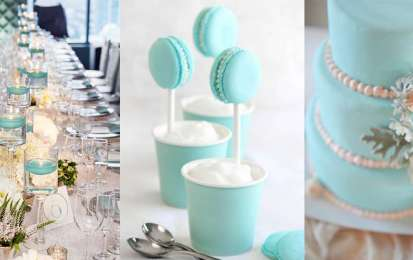 Decorazioni per il matrimonio color tiffany