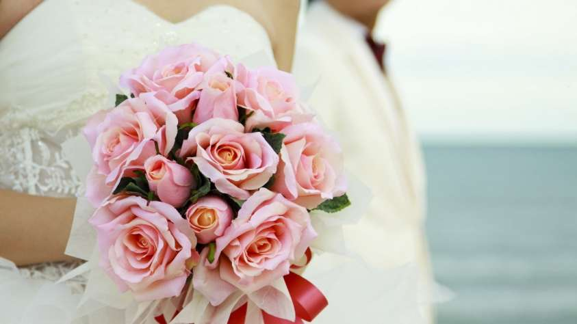 Bouquet da sposa con le rose
