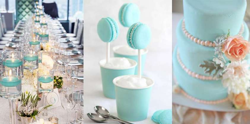 Matrimonio Tema Tiffany : Decorazioni per il matrimonio color tiffany idee le