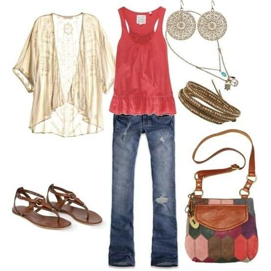 Look in stile hippie
