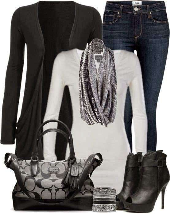 Look casual in nero