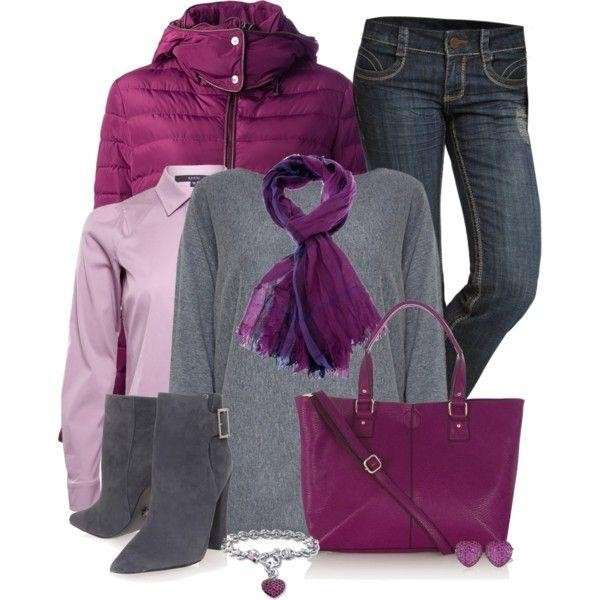 Look in grigio e radiant orchid