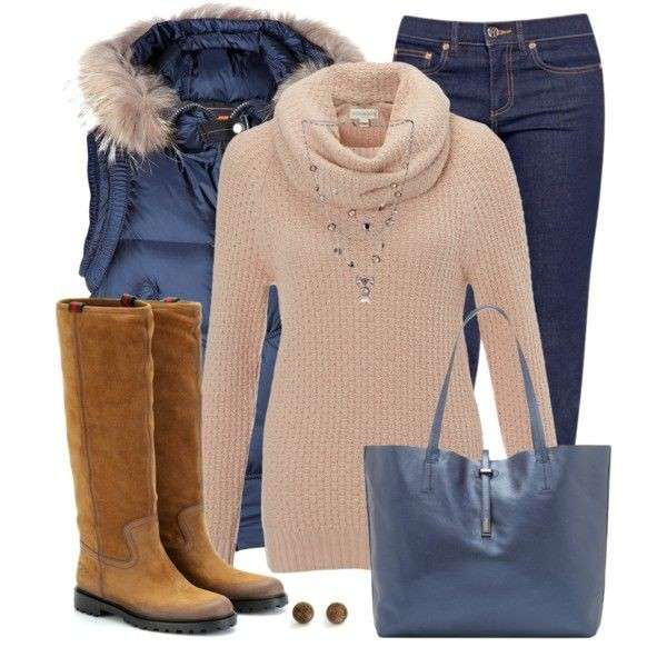 Look casual in beige e blu