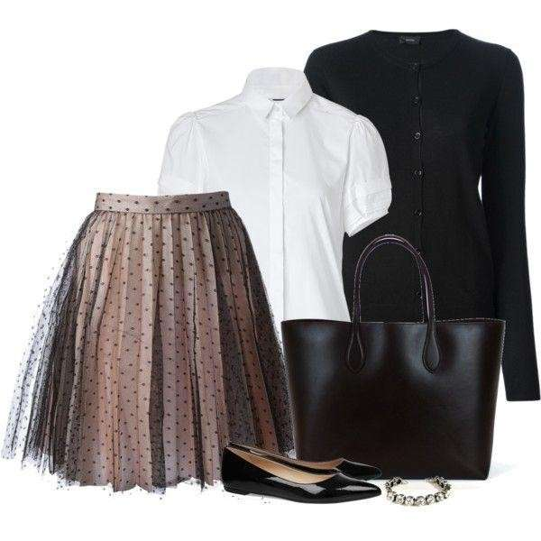 Gonna in tulle e accessori neri