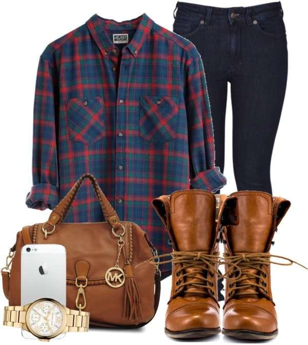 Look casual con camicia a quadri