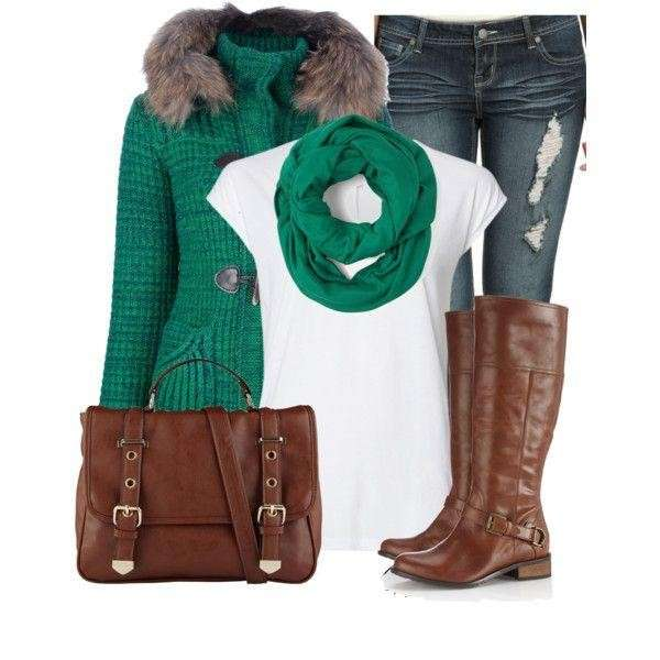 Look in verde e marrone