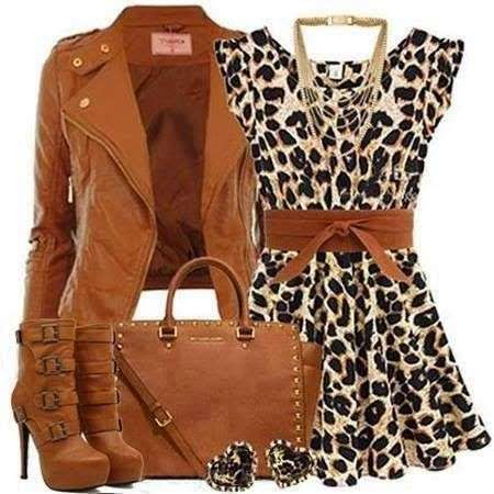 Minidress animalier e accessori
