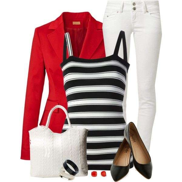 Look chic con top a righe