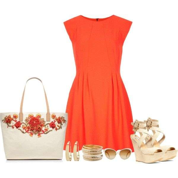 Minidress orange e accessori