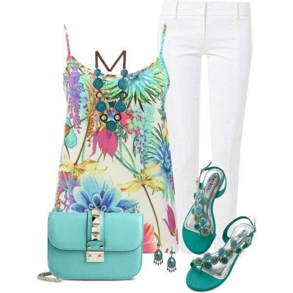 Look con stampe tropical