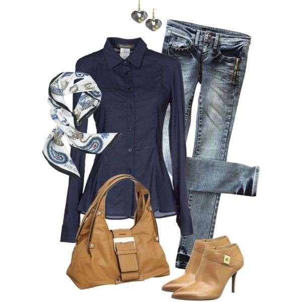 Look casual in blu e beige