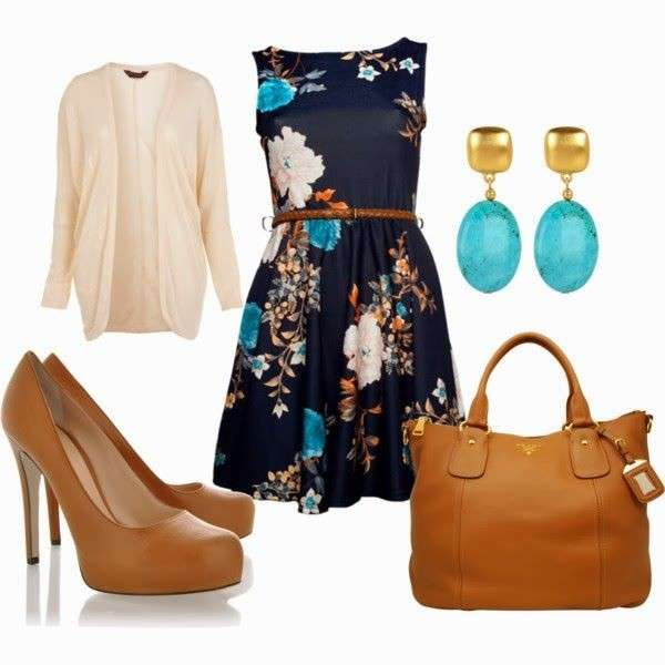 Minidress e accessori caramello