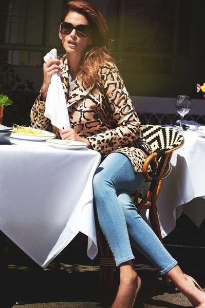 Giacca animalier per Cindy Crawford
