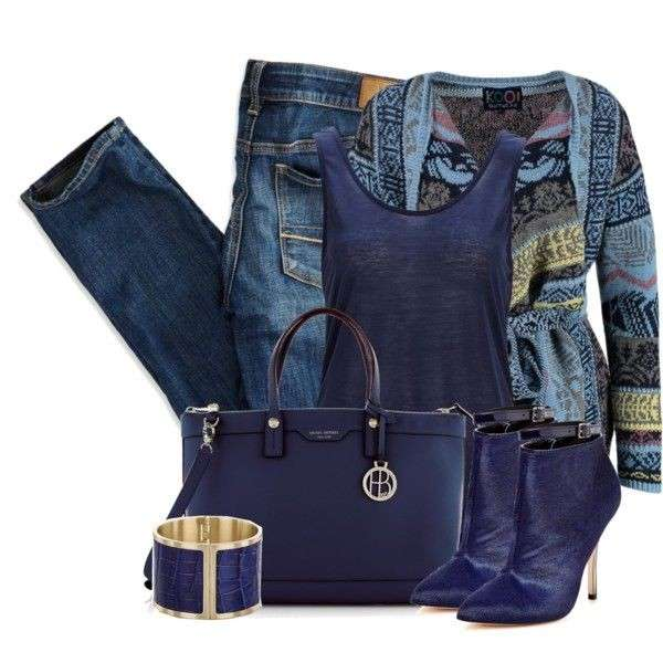 Look casual in sfumature di blu