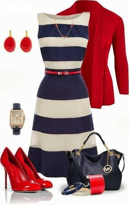 Look bon ton in stile navy