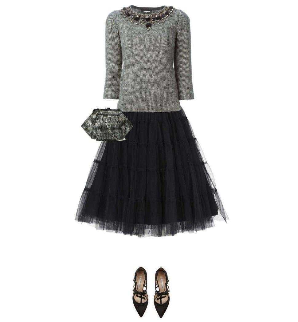 Look con gonna di tulle