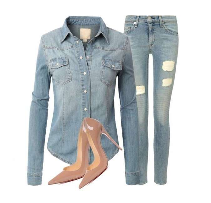 Look in denim