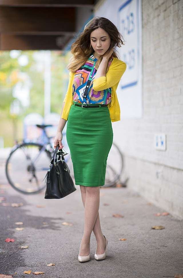 Outfit in color block