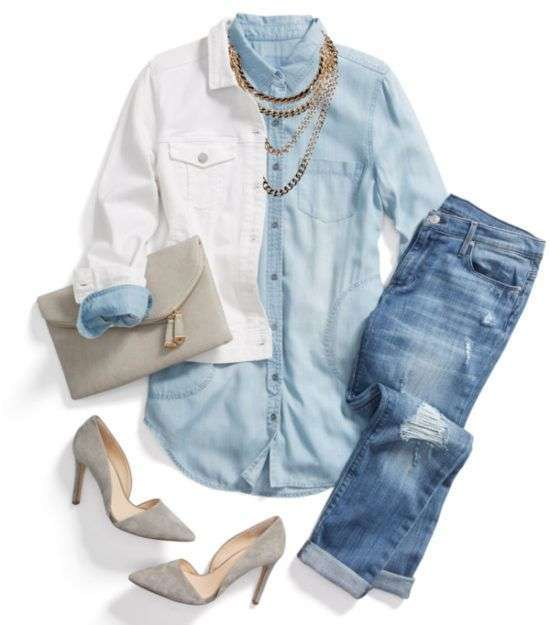 Look con capi in denim