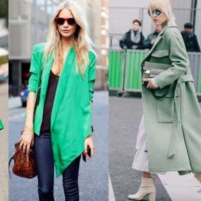 L'outfit in verde