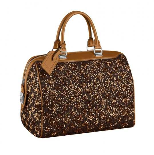 Louis Vuitton, bauletto glitter dorato
