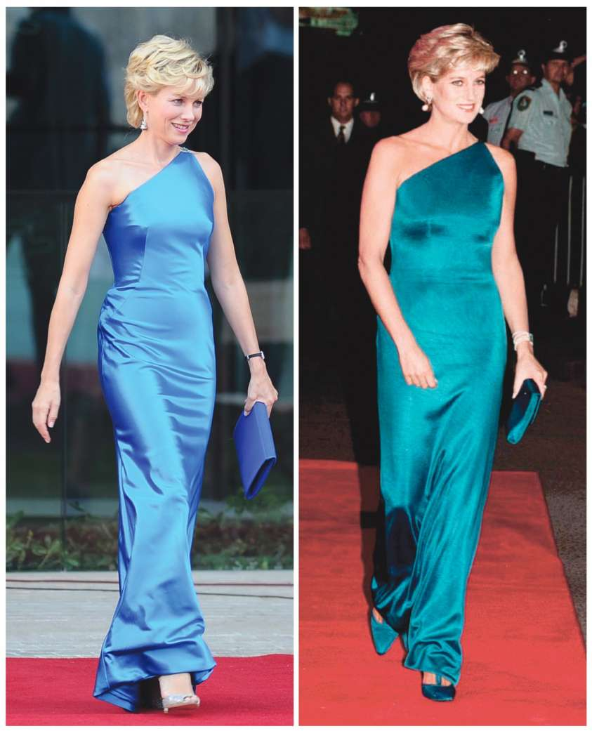 Lady Diana look film e reali