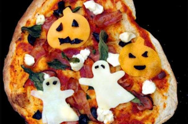 Torta-pizza di Halloween