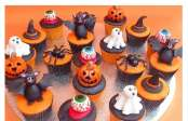 Decorazioni muffin di halloween