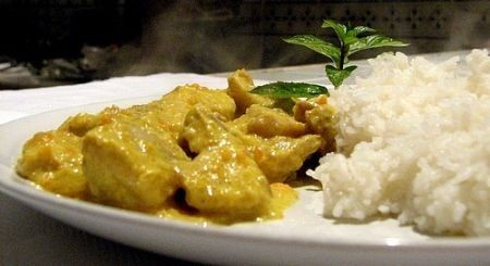 piatto pollo al curry